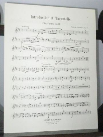 Sarasate P - Introduction et Tarantelle Op 43 Clarinet 1 Part